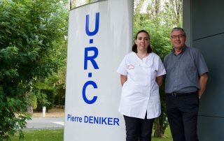 Cécile Boisvert et Roger Tarrade, devant l'URC