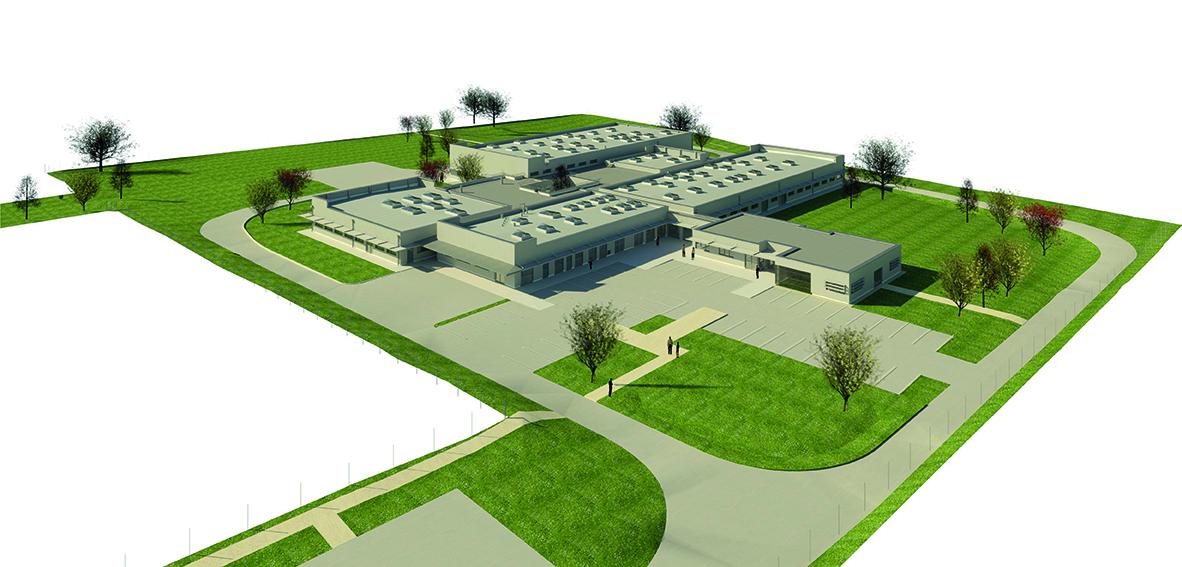 Vue aérienne des futurs ateliers de l'ESAT ESSOR
