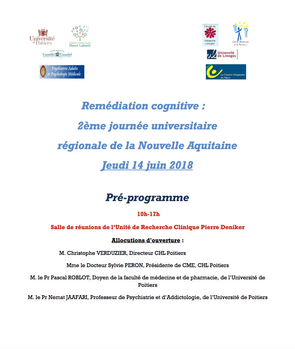Remédiation cognitive préprogramme 2018 au 13 04 2018
