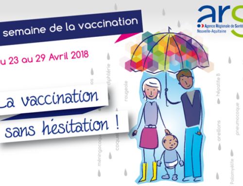 « La semaine de la vaccination » de l'ARS Nouvelle-Aquitaine