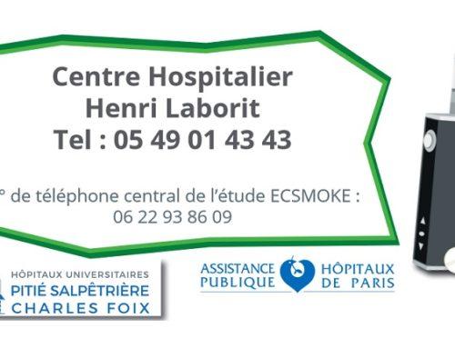 Étude clinique ECSMOKE : la cigarette électronique comme aide au sevrage tabagique
