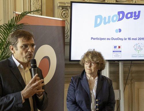 Le maire reçoit tous les intervenants du DuoDay dans les salons de la Ville