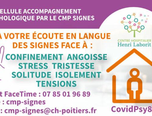 [COVID-19] Le CMP Signes propose un accompagnement psychologique aux personnes sourdes