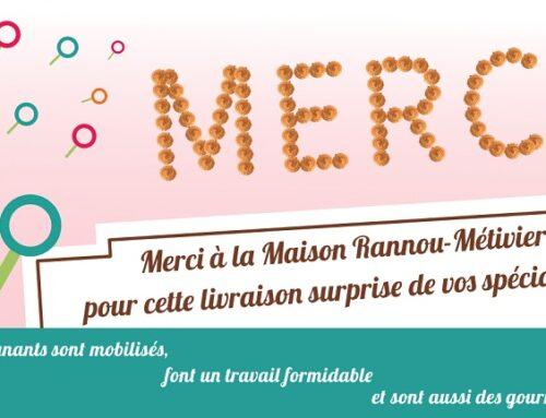 La maison Rannou-Métivier offre des macarons aux soignants du CH Laborit