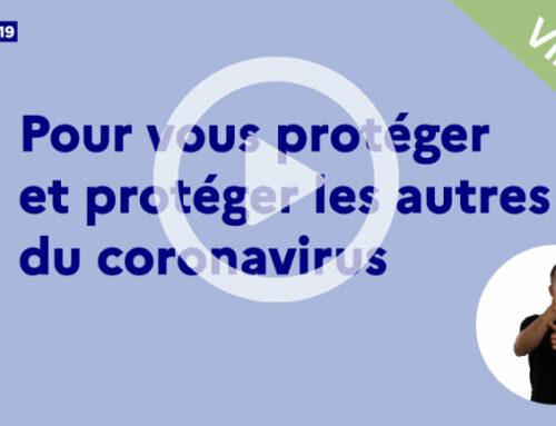 COVID-19 : Vidéo du Ministère de la Santé «Gestes barrières»
